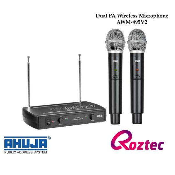 Ahuja AWM-495V2 Dual PA Wireless Microphone