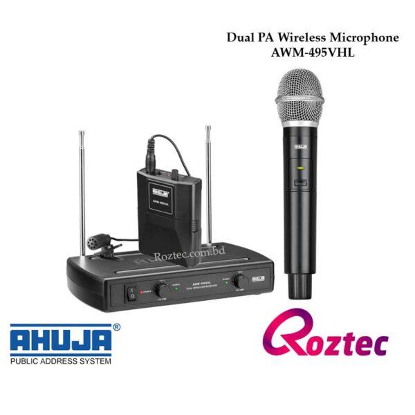 Ahuja Dual Wireless Mic AWM-495VHL