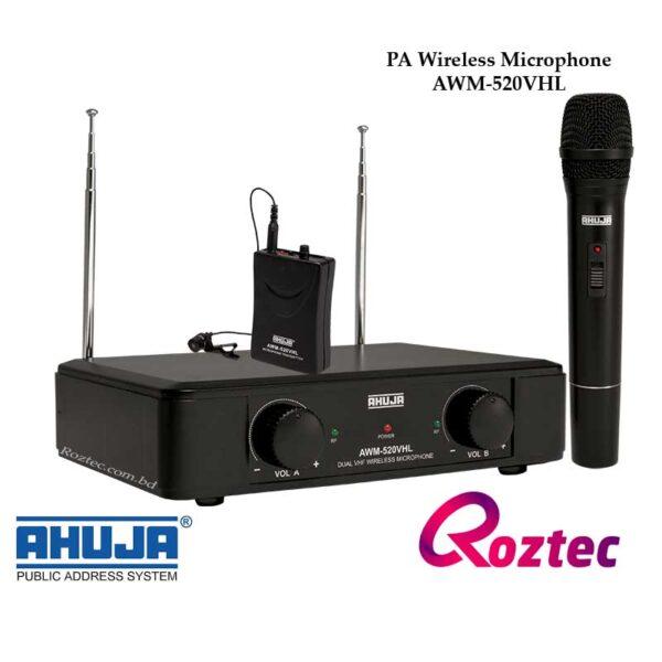 Ahuja AWM-520VHL Dual Wireless Microphone