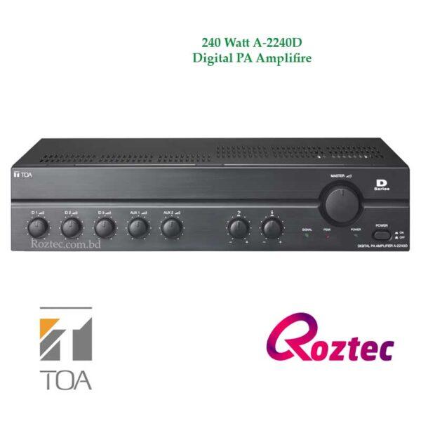 Toa 240 Watt A-2240D Digital PA Amplifier